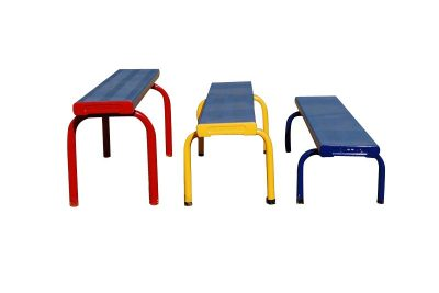 Free standing stackable aluminium seats